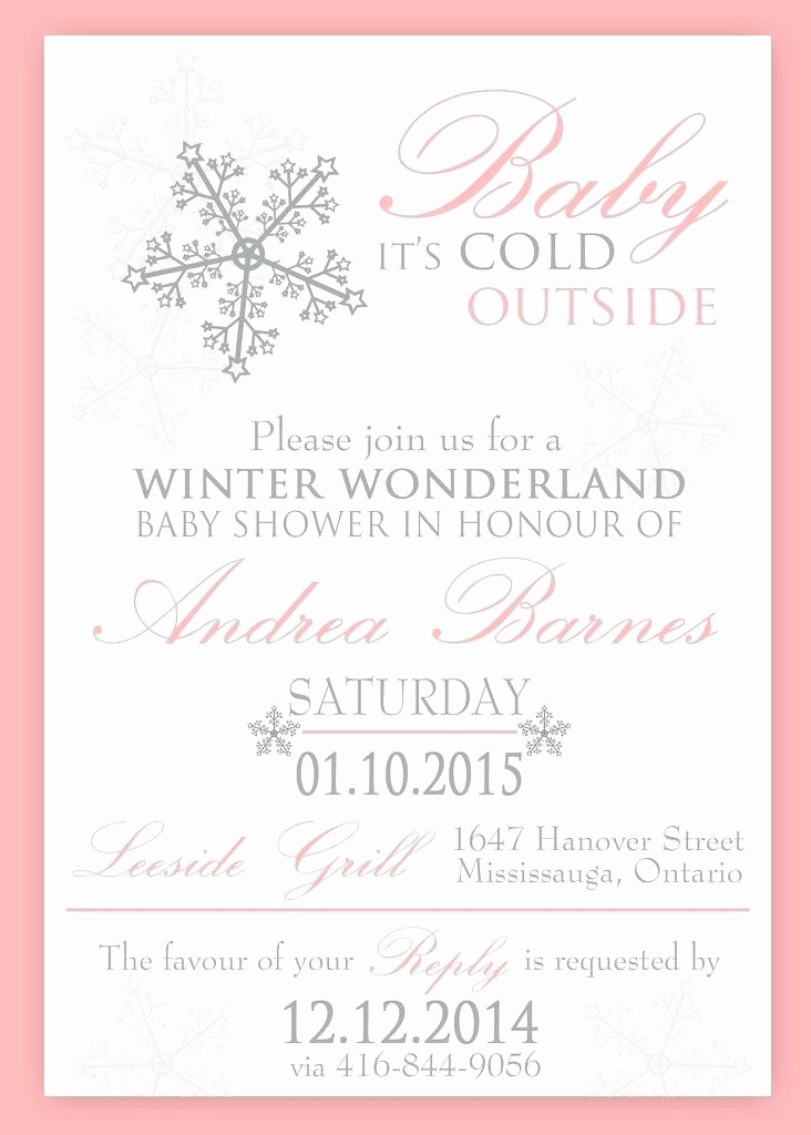 Winter Wonderland Invitation Template Free Inspirational Free Winter Wedding Invitation Templates