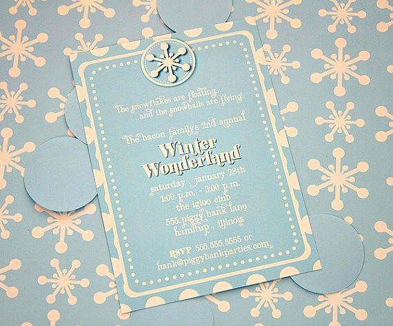 Winter Wonderland Invitation Template Free Lovely 9 Best Of Winter Wonderland Party Invitation Free