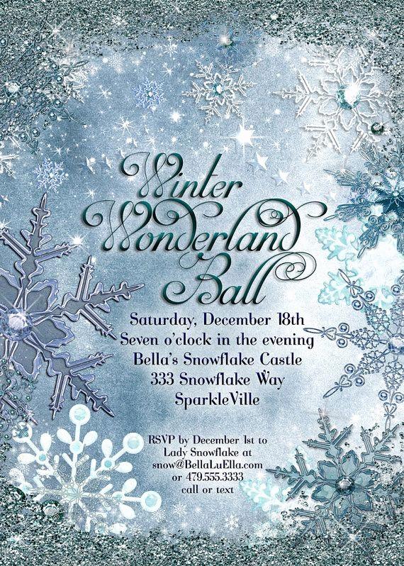 Winter Wonderland Invitation Template Free Luxury 31 Best Winter Wonderland Invitations Images On Pinterest
