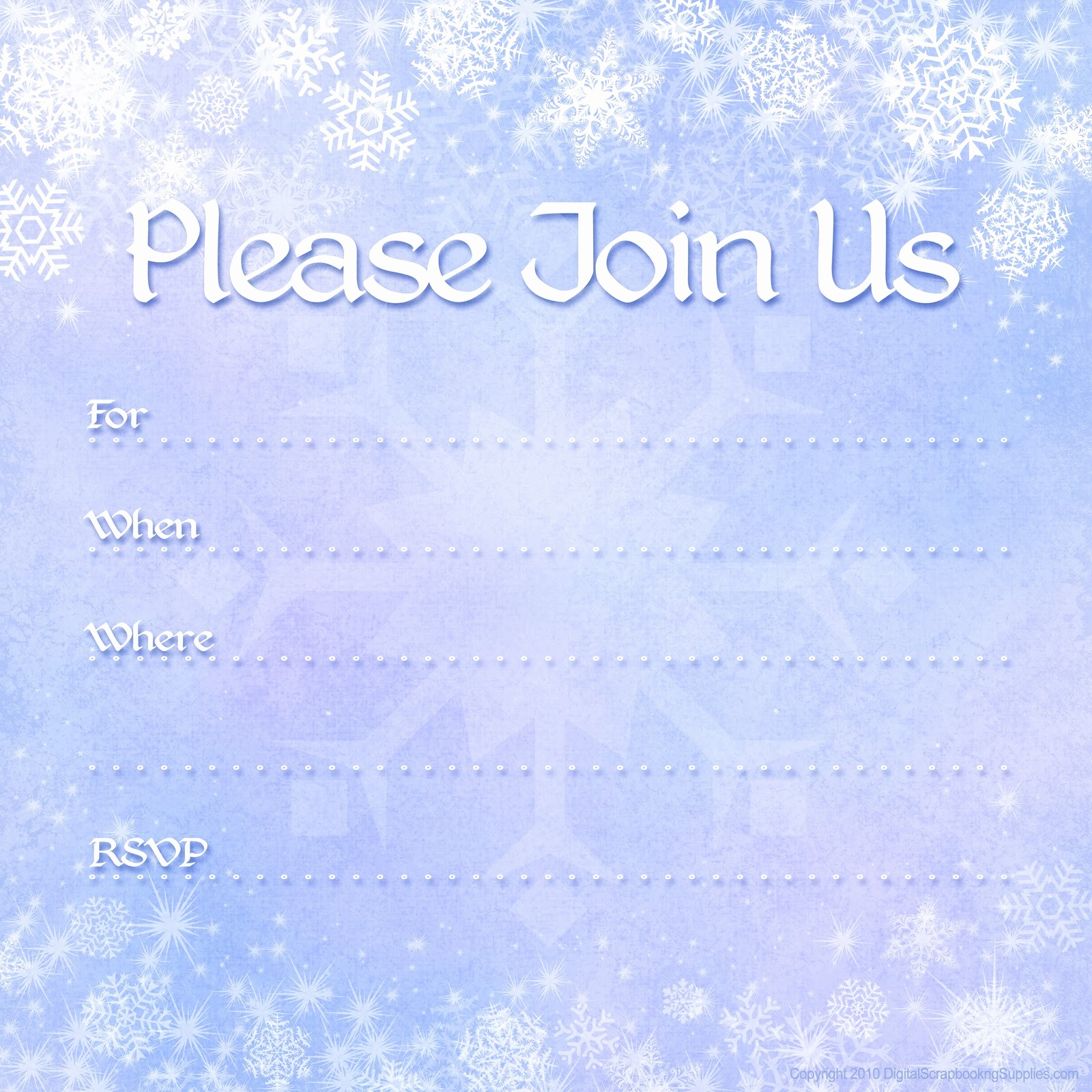 Winter Wonderland Invitation Template Free Luxury Free Printable Party Invitations Free Winter Holiday