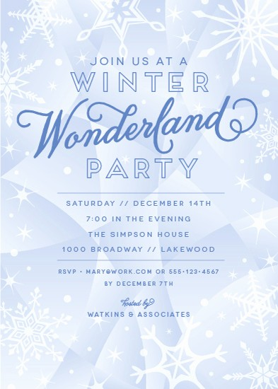 Winter Wonderland Invitation Template Free Luxury Party Invitations Winter Wonderland at Minted