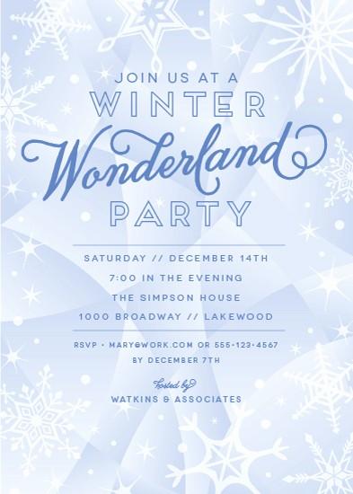 Winter Wonderland Invitation Template Free Luxury Party Invitations Winter Wonderland at Minted