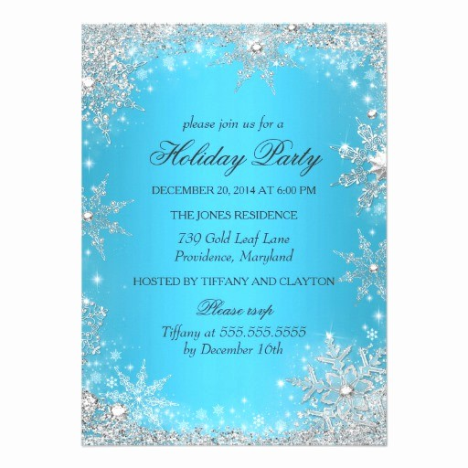 Winter Wonderland Invitation Template Free Luxury Personalized Winter Wonderland Invitations