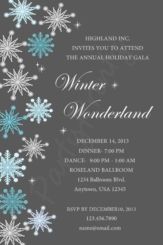 Winter Wonderland Invitation Template Free New Printable Winter Wonderland Christmas Party Personalized