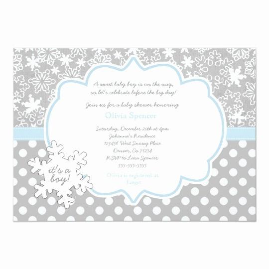 Winter Wonderland Invitation Template Free New Snowflake Winter Wonderland Baby Shower Invitation