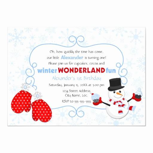 Winter Wonderland Invitation Template Free New Winter Wonderland Birthday Invitation