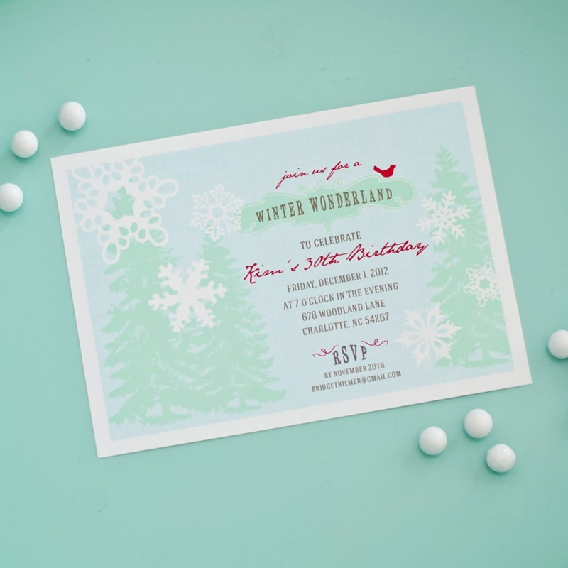 Winter Wonderland Invitation Template Free New Winter Wonderland Holiday or Birthday Party Printable