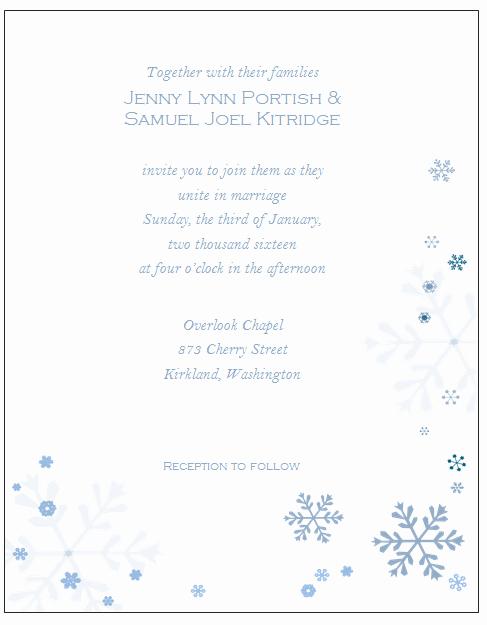 Winter Wonderland Invitation Template Free New Winter Wonderland Invitations Templates