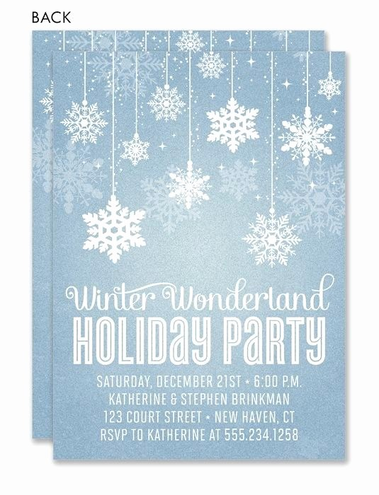 Winter Wonderland Invitation Template Free Unique Best 25 Holiday Invitations Ideas On Pinterest