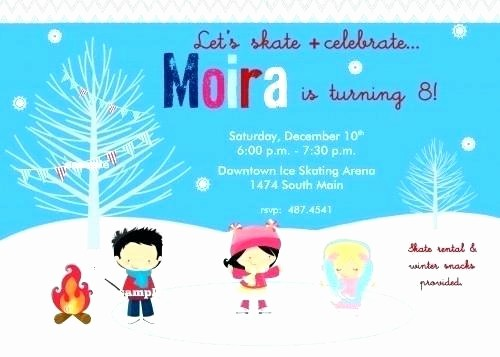 Winter Wonderland Invitation Template Free Unique Ice Skating Party Invitation Template Free New Invitations