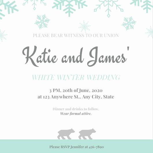 Winter Wonderland Invitation Template Free Unique Winter Wonderland Prom Invitation Templates by Canva