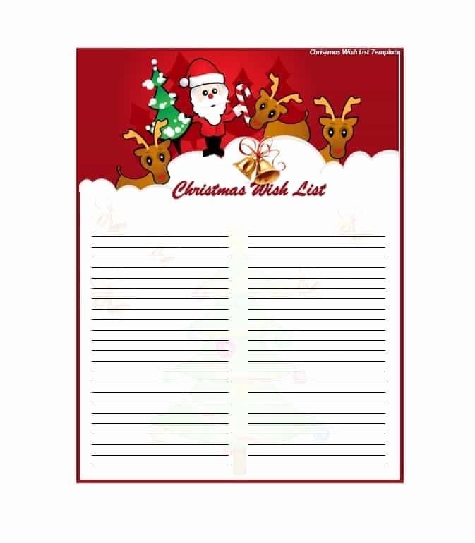 Wish List Template Microsoft Word Awesome 43 Printable Christmas Wish List Templates & Ideas