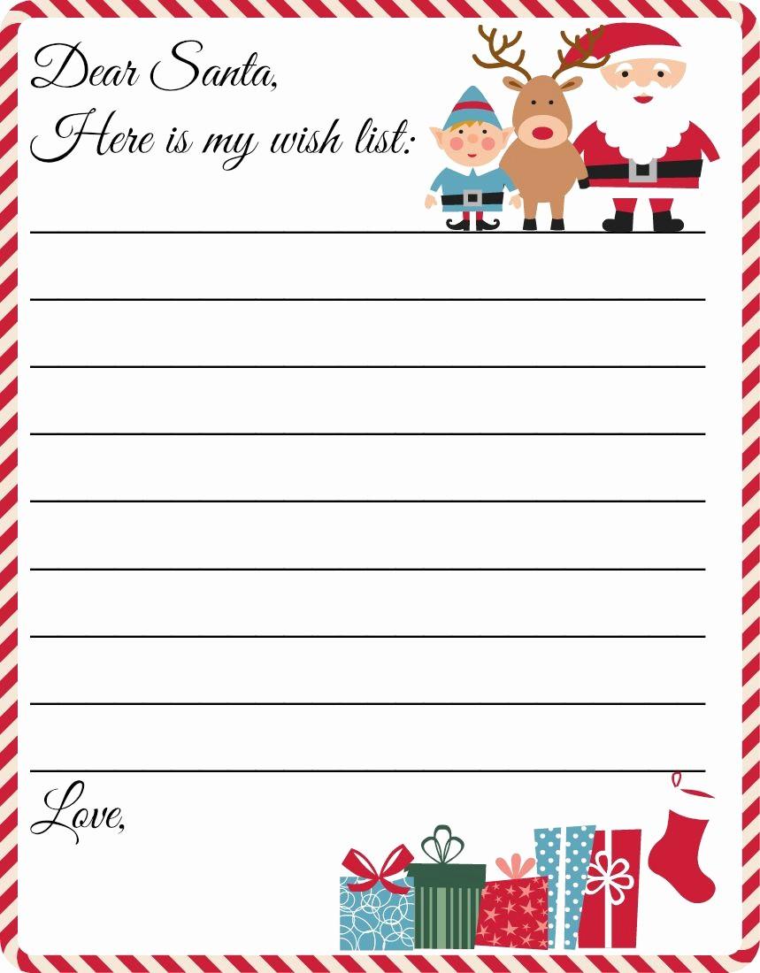 Wish List Template Microsoft Word Beautiful 48 Christmas Wish Lists