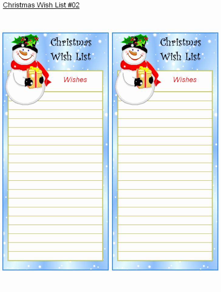 Wish List Template Microsoft Word Beautiful Free Printable Christmas Wish List Free Christmas Wish