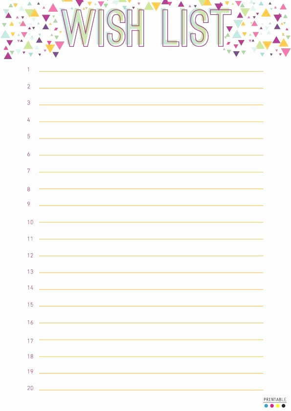 Wish List Template Microsoft Word Elegant 20 Fresh Birthday Wish List Template