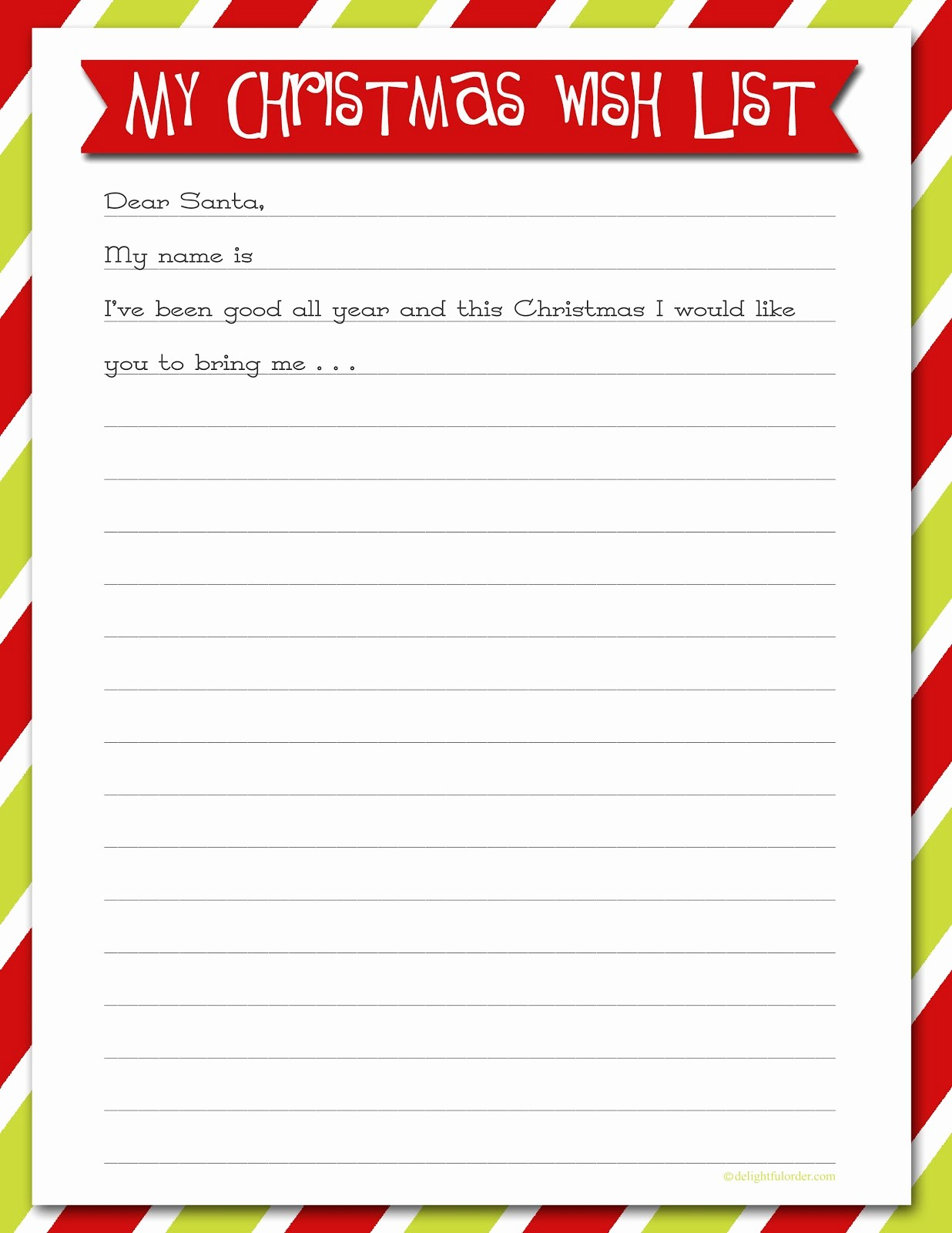 Wish List Template Microsoft Word Elegant Christmas List Template