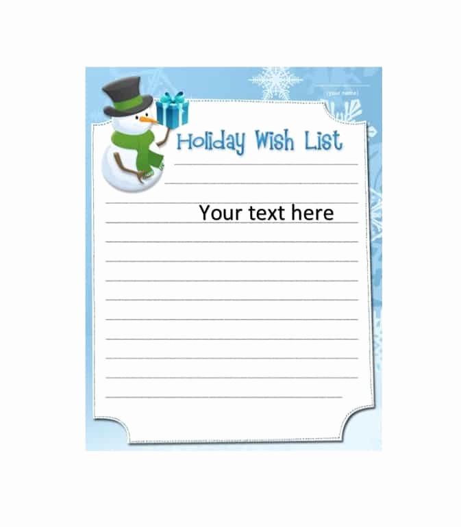 Wish List Template Microsoft Word New 43 Printable Christmas Wish List Templates & Ideas