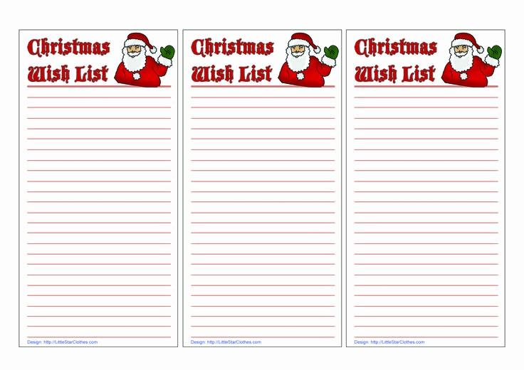 Wish List Template Microsoft Word New Christmas List Template