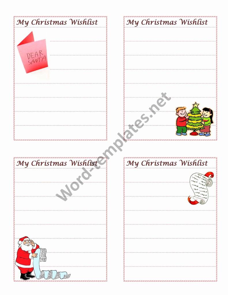 Wish List Template Microsoft Word New Christmas Wish List