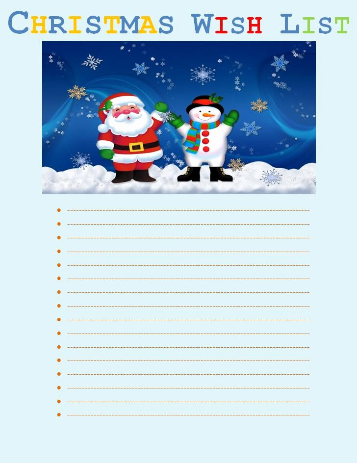 Wish List Template Microsoft Word New Christmas Wish List Template
