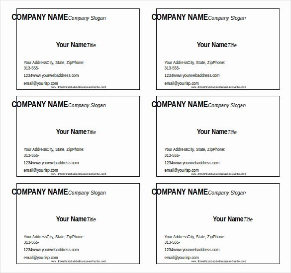 Word Blank Business Card Template Unique 12 Microsoft Word Free Blank Templates Download