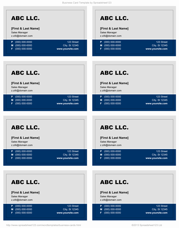 Word Document Business Card Template Best Of Business Card Templates for Word