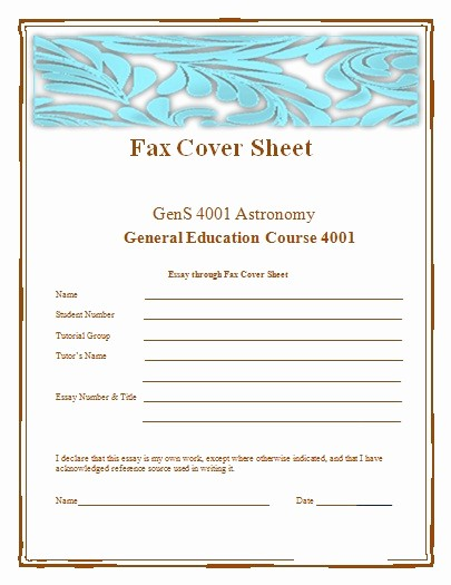 Word Fax Cover Sheet Templates Inspirational Fax Cover Sheet Templates