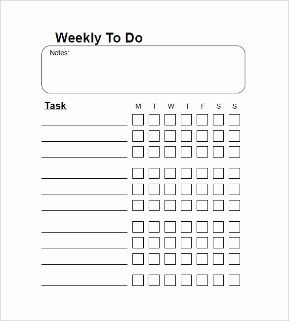Word for Things to Do Awesome Weekly to Do List Template 6 Free Word Excel Pdf