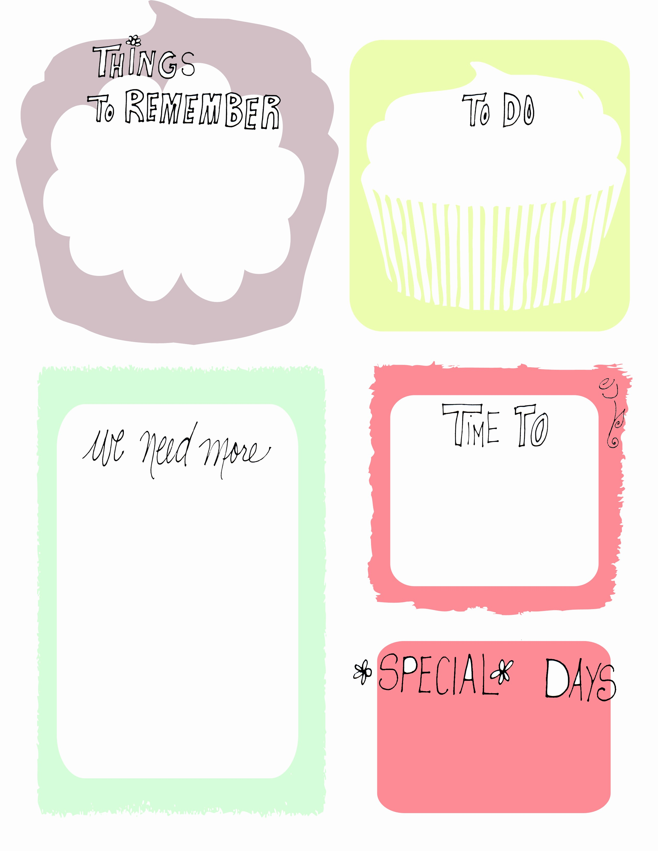 Word for Things to Do Elegant Found This Awesome Cupcake to Do List Via Pintrest