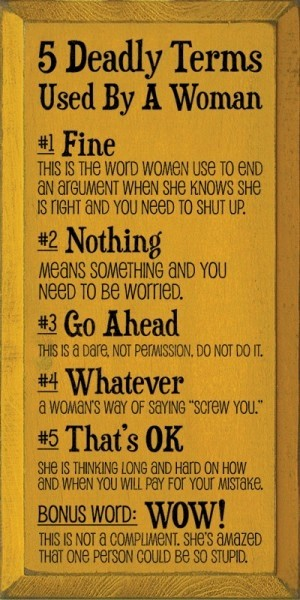 Word for Things to Do Lovely 5 Deadly Terms Used by A Woman Favething