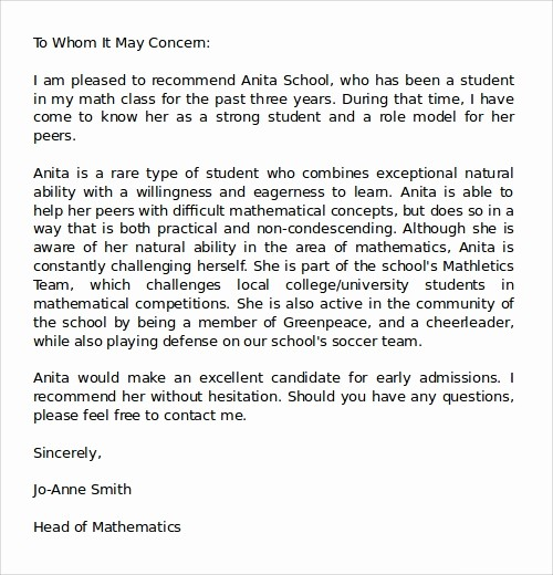 Word Letter Of Recommendation Template Lovely 27 Letter Of Re Mendation In Word Samples