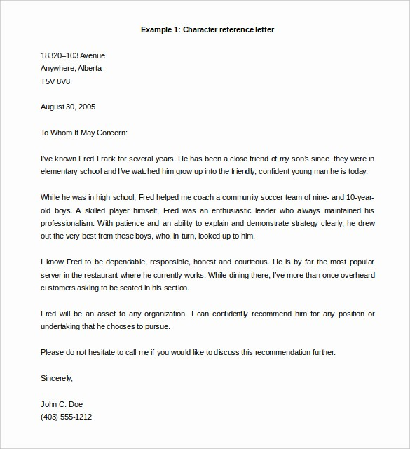 Word Letter Of Recommendation Template Luxury 42 Reference Letter Templates Pdf Doc