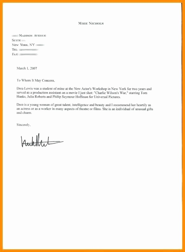 Word Letter Of Recommendation Template New Re Mendation Letter Template for Phd Student