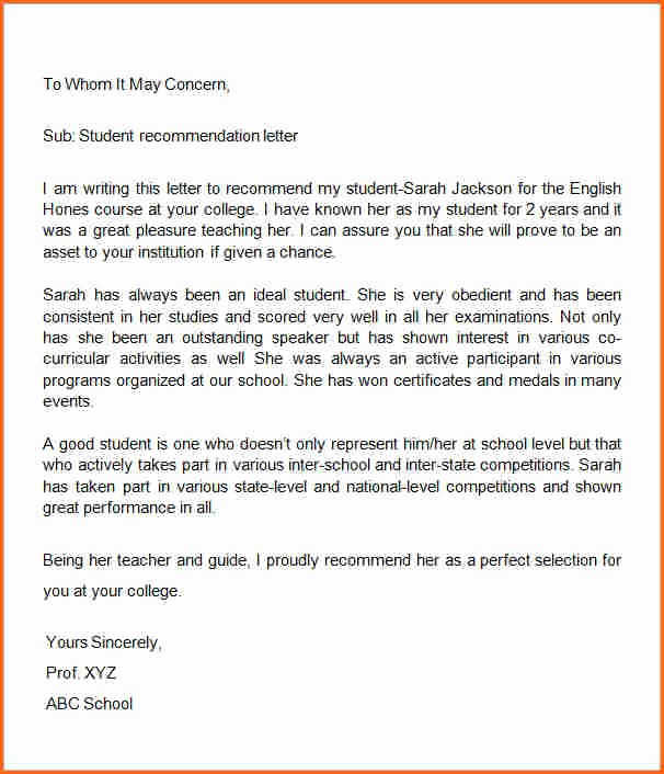 Word Letter Of Recommendation Template Unique 10 Letter Of Re Mendation Template Word Bud