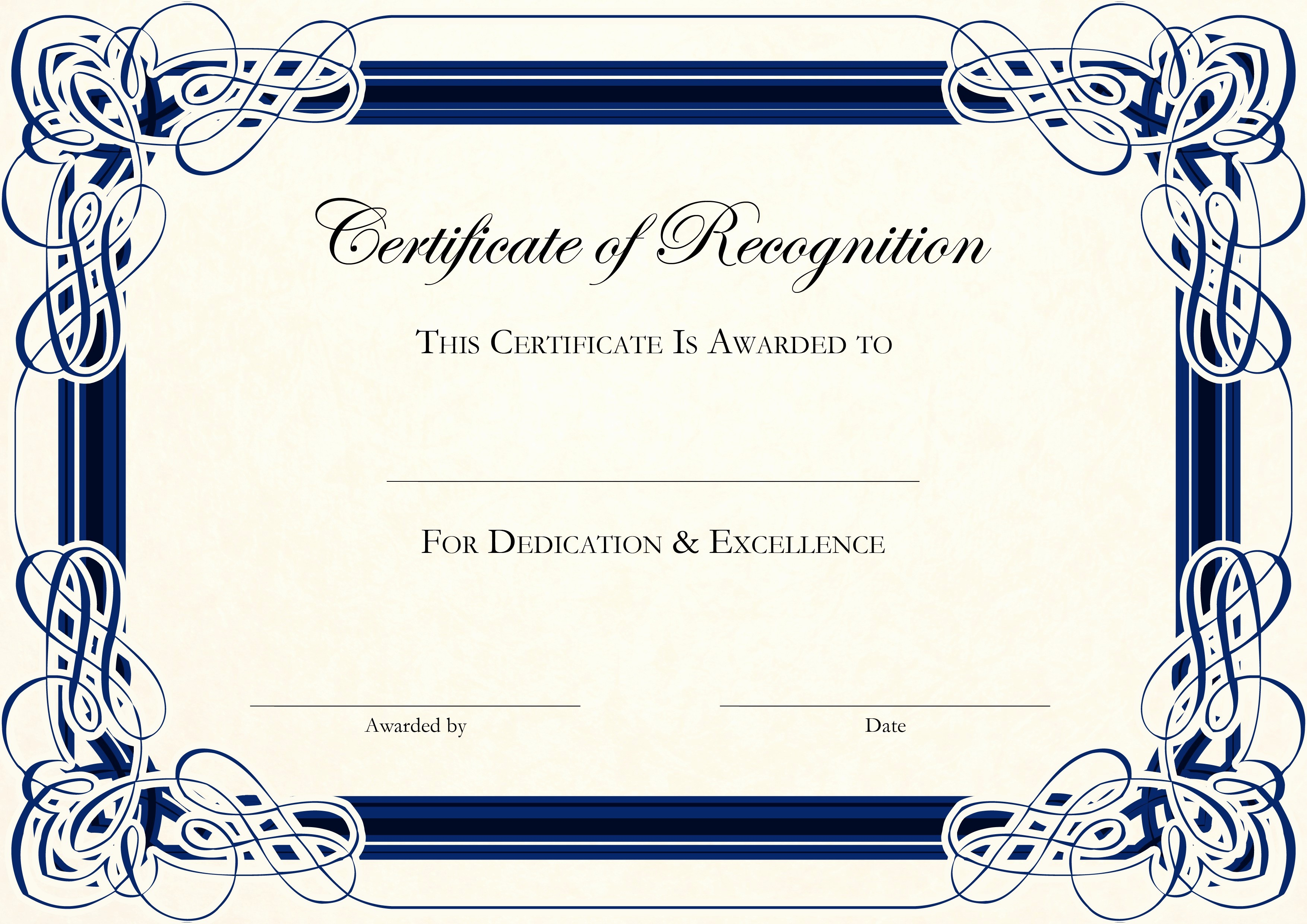 Word Template Certificate Of Recognition Awesome Free Certificate Templates for Word