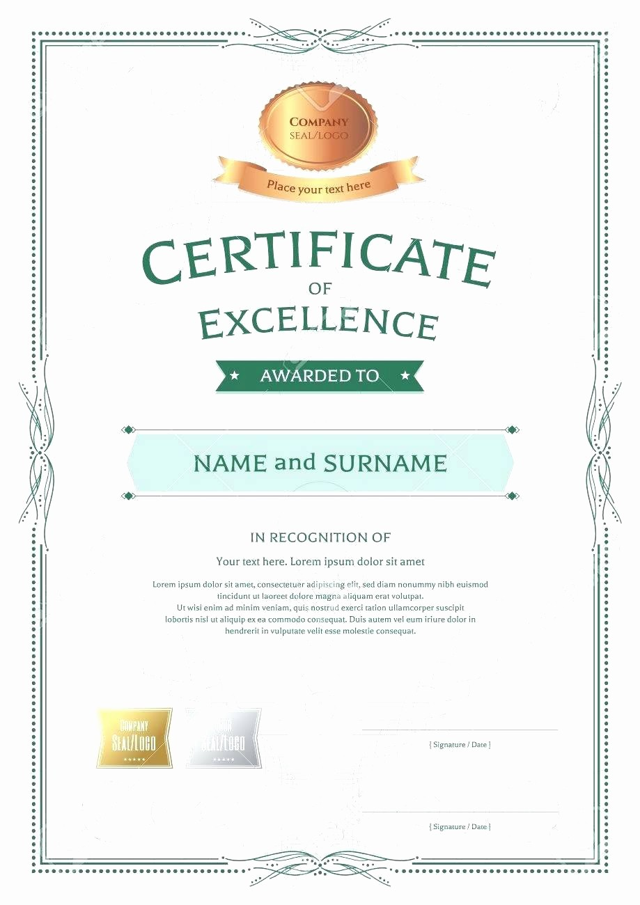 Word Template Certificate Of Recognition Awesome Template Certificate Recognition Template Word