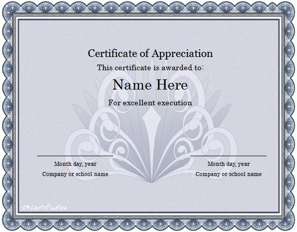 Word Template Certificate Of Recognition Inspirational Word Certificate Template 49 Free Download Samples
