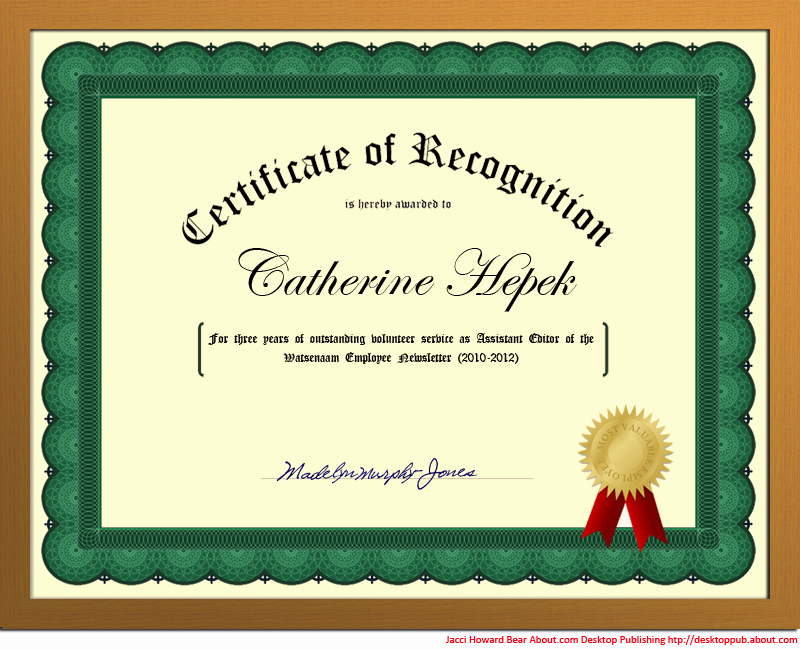 Word Template Certificate Of Recognition Inspirational You Can Create A Certificate Of Recognition In Word for