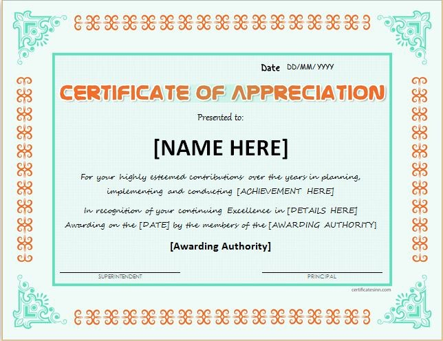 Word Template Certificate Of Recognition Unique Certificates Of Appreciation Templates for Word