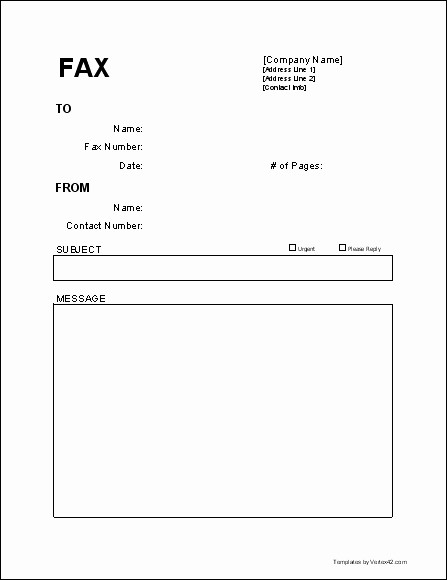 Word Template Fax Cover Sheet Best Of Fax Cover Sheet Template Word 2010