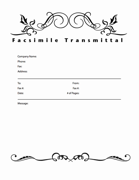Word Template Fax Cover Sheet Inspirational Free Fax Cover Sheet Template Download