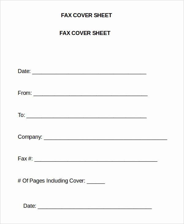 Word Template Fax Cover Sheet Unique Word Fax Template 12 Free Word Documents Download