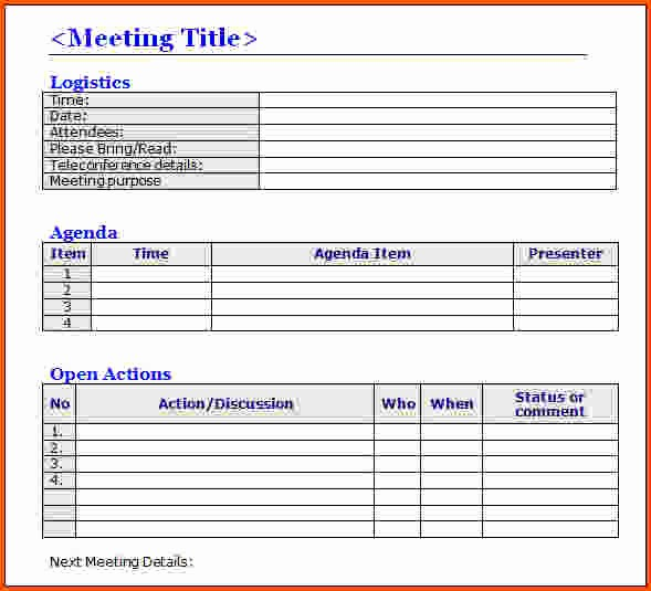 Word Template for Meeting Minutes Awesome Sample Meeting Minutes Template Word