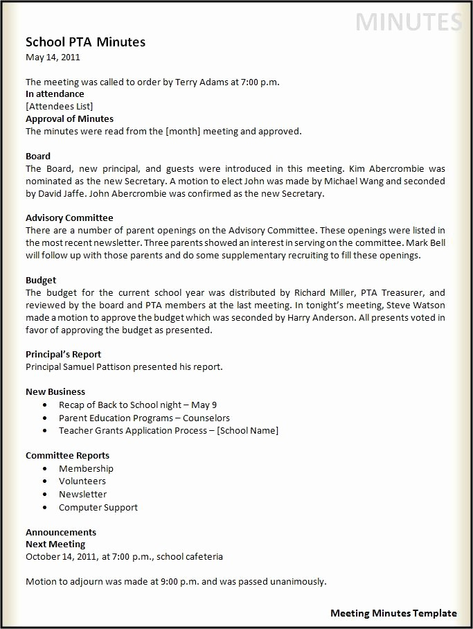 Word Template for Meeting Minutes Best Of Agenda Templates