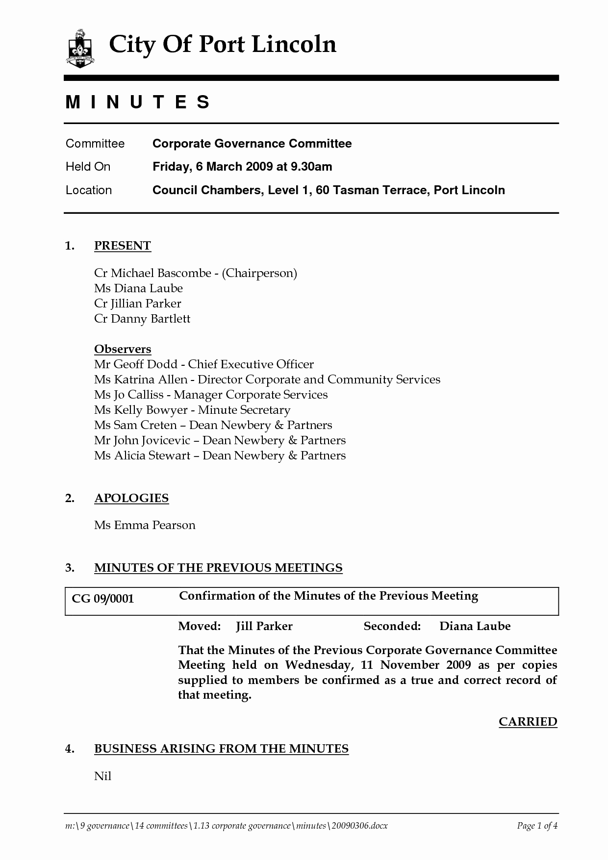 Word Template for Meeting Minutes Luxury Corporate Minutes Template