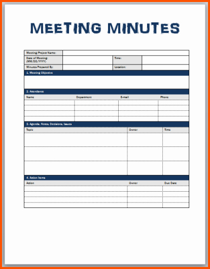 Word Template for Meeting Minutes Luxury the Gallery for Monthly attendance Sheet