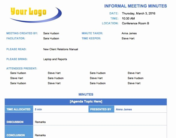 Word Template for Meeting Minutes New Free Meeting Minutes Template for Microsoft Word
