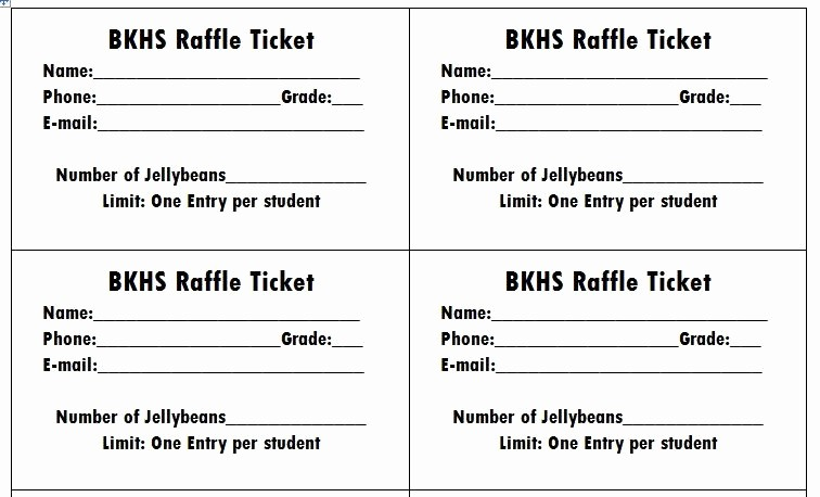 Word Template for Raffle Tickets Awesome Raffle Ticket Template Word