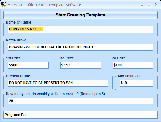 Word Template for Raffle Tickets Beautiful Ms Word Raffle Tickets Template software Screenshot X 64