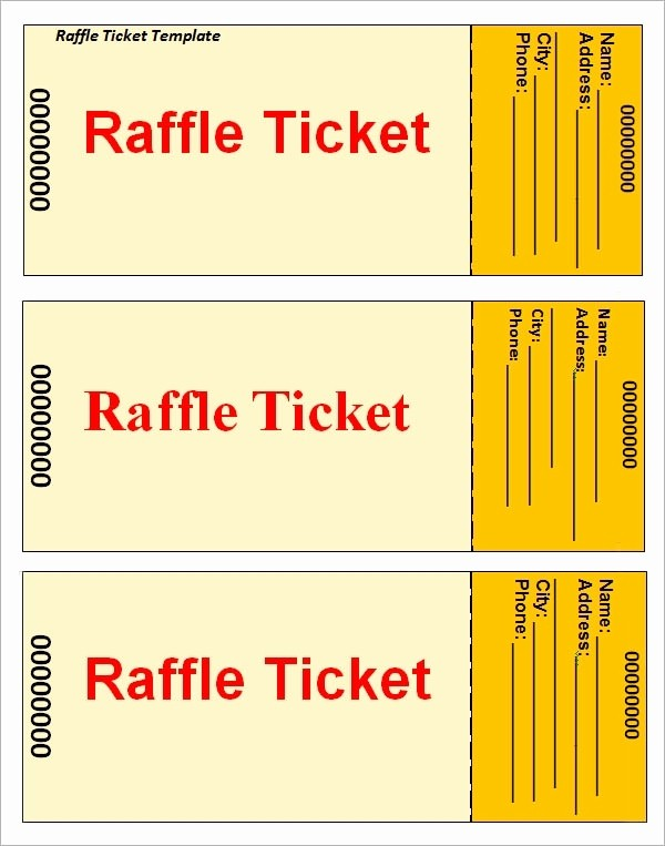Word Template for Raffle Tickets Best Of Raffle Tickets Template Beepmunk